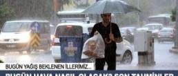 26 Ağustos 2015 Bugün Hava Durumu Yağış Uyarıları